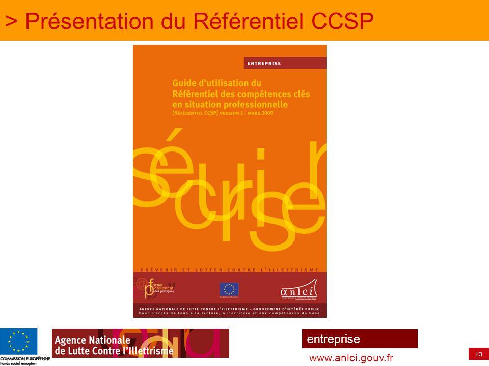 13 entreprise www.anlci.gouv.fr > Présentation du Référentiel CCSP