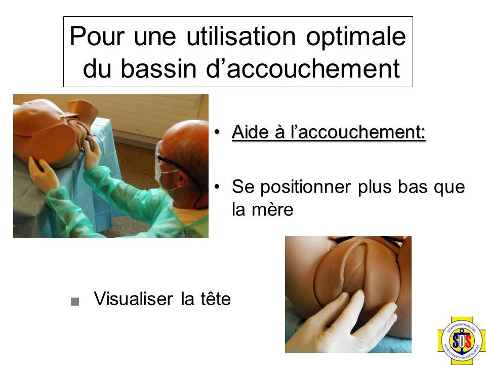 Aide à l'accouchement:Aide à l'accouchement: Se positionner plus bas que la mère Visualiser la tête Pour une utilisation optimale du bassin d'accouchement