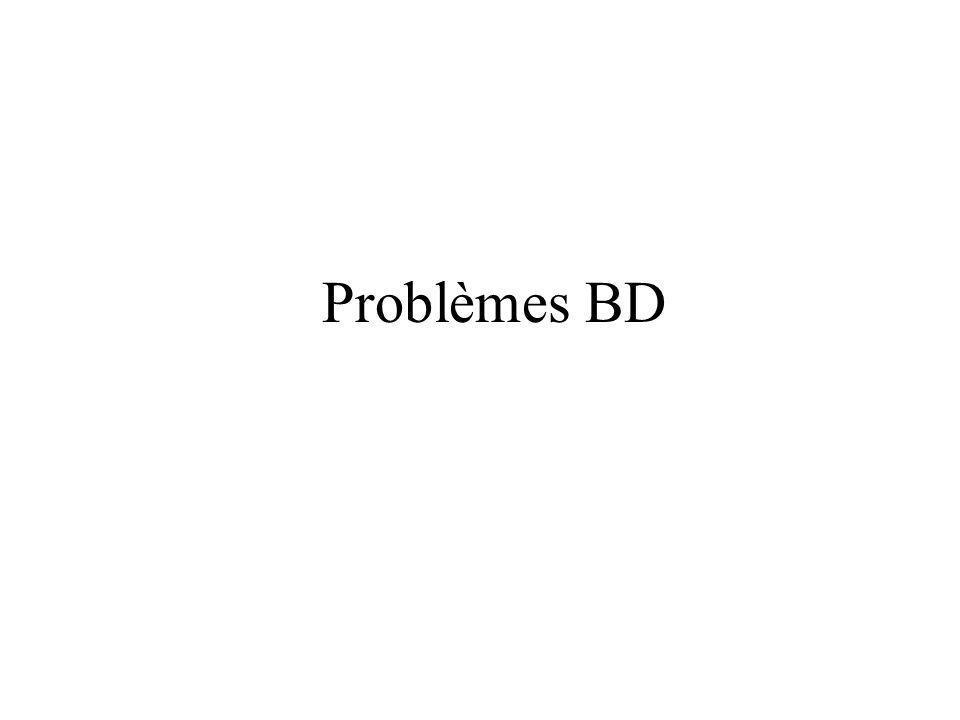Problèmes BD