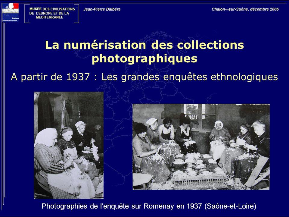 La numérisation des collections photographiques A partir de 1937 : Les grandes enquêtes ethnologiques Photographies de l'enquête sur Romenay en 1937 (