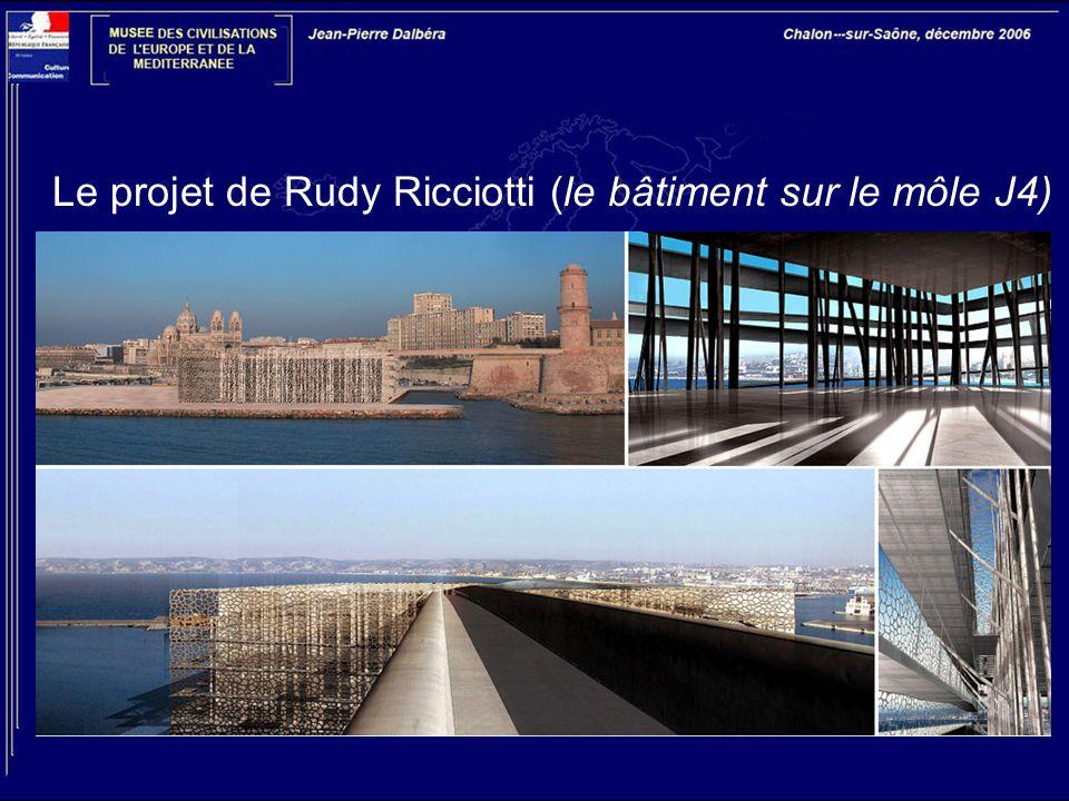 Le projet de Rudy Ricciotti (le bâtiment sur le môle J4)