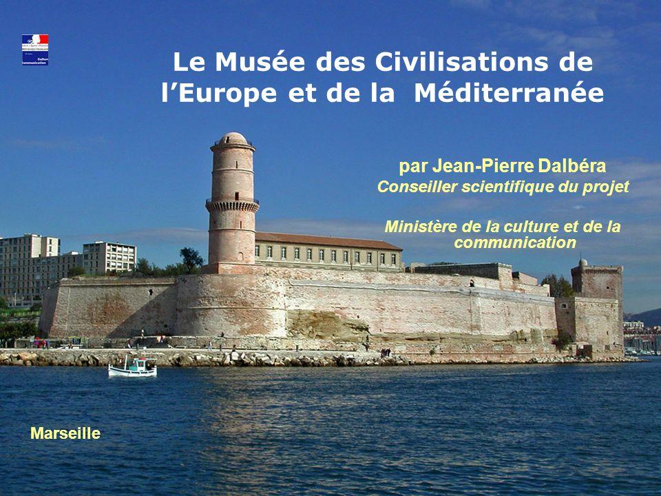 Un projet majeur pour l'Europe et la Méditerranée Un musée innovant pour faire découvrir la diversité culturelle de l' Europe et de la Méditerranée Un pont entre les cultures : pour promouvoir les échanges, les contacts et le partage, pour créer un lieu de rencontres internationales à Marseille.