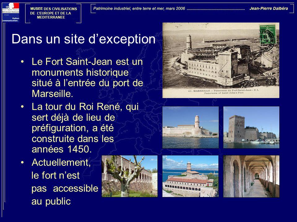 Dans un site d'exception Le Fort Saint-Jean est un monuments historique situé à l'entrée du port de Marseille.