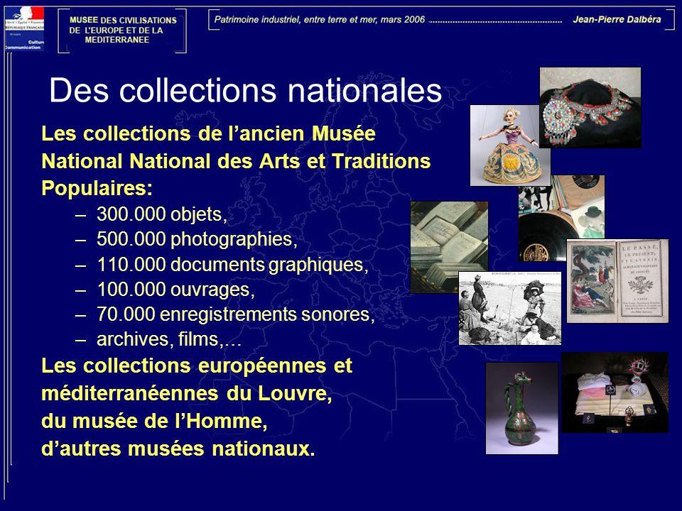Un musée pour les civilisations du 21ème siècle, un forum d'idées et de débats Un nouveau concept muséographique : pour tenter de répondre aux questions posées par les sociétés d'aujourd'hui, en Europe et en Méditerranée pour favoriser la compréhension des territoires et des modes de vie, pour associer les réseaux d'acteurs nationaux et internationaux engagés sur ces thèmes