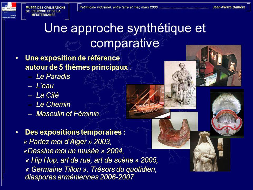 Une approche synthétique et comparative Une exposition de référence autour de 5 thèmes principaux : –Le Paradis –L'eau –La Cité –Le Chemin –Masculin et Féminin.
