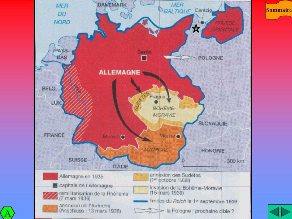 Schéma Sommaire A Japon 1931 : INVASION DE LA MANCHOURIE. Allemagne 1935 : RETABLISSE MENT DU SERVICE MILITAIRE 1936 : REMILITARIS ATION DE LA RHENANI