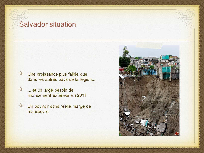 Une croissance plus faible que dans les autres pays de la région...... et un large besoin de financement extérieur en 2011 Un pouvoir sans réelle marg