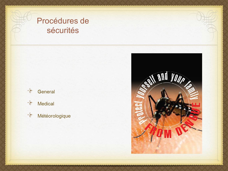 Procédures de sécurités General Medical Météorologique