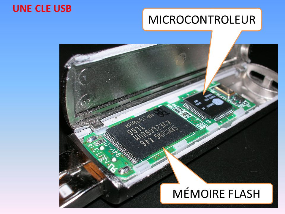 MÉMOIRE FLASH MICROCONTROLEUR UNE CLE USB