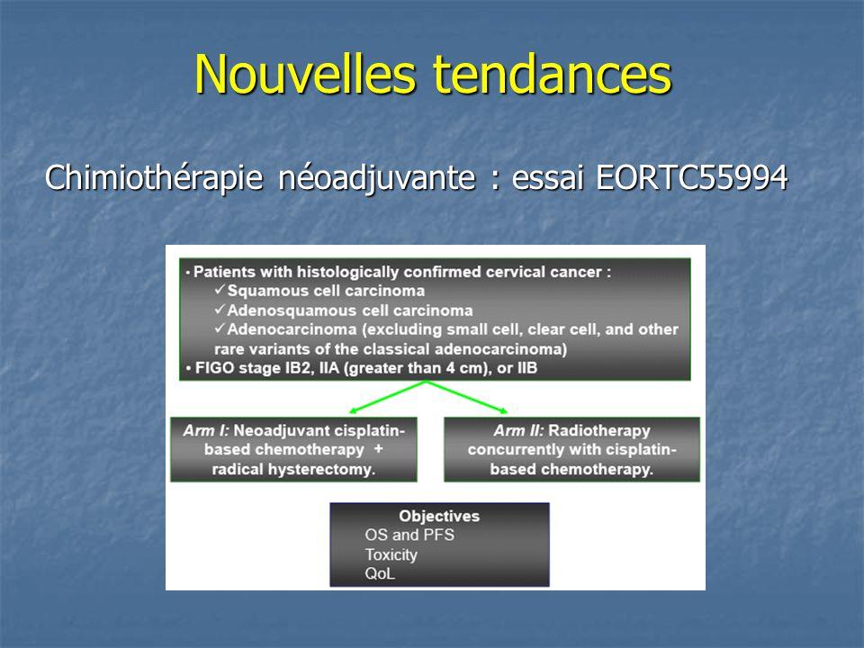Nouvelles tendances Chimiothérapie néoadjuvante : essai EORTC55994