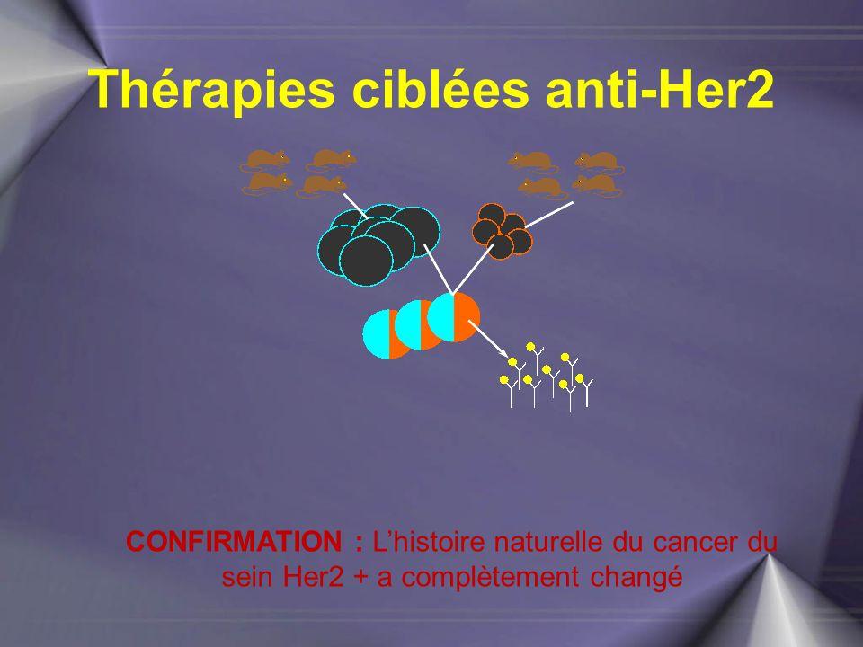 Thérapies ciblées anti-Her2 CONFIRMATION : L'histoire naturelle du cancer du sein Her2 + a complètement changé