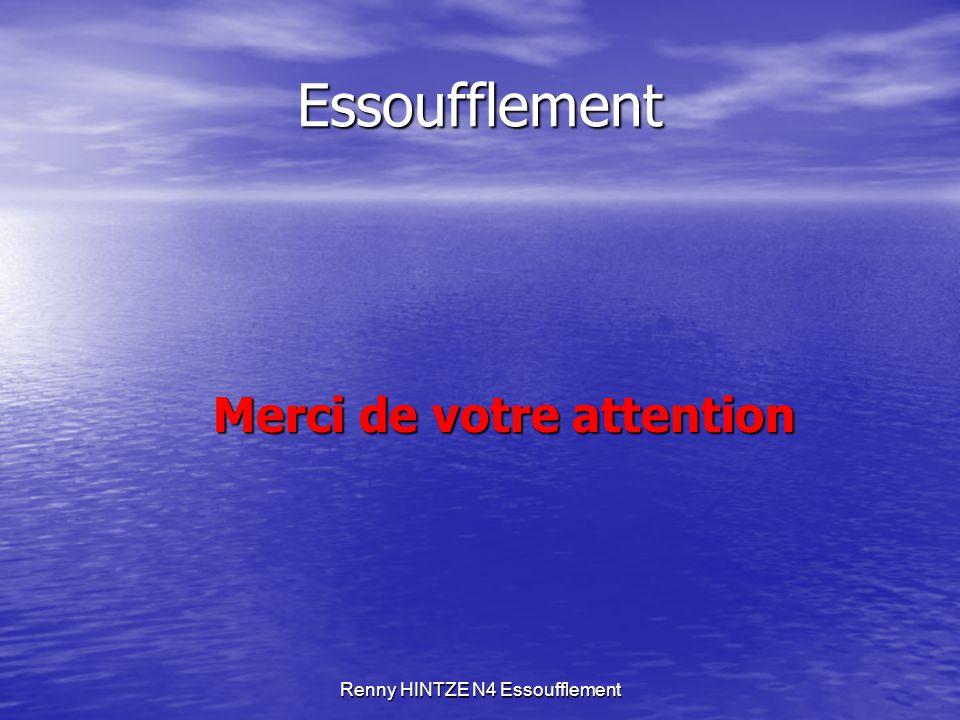 Renny HINTZE N4 Essoufflement Essoufflement Merci de votre attention