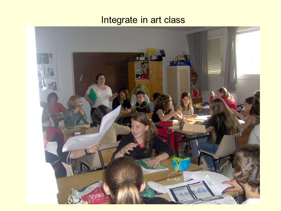 Integrate in art class