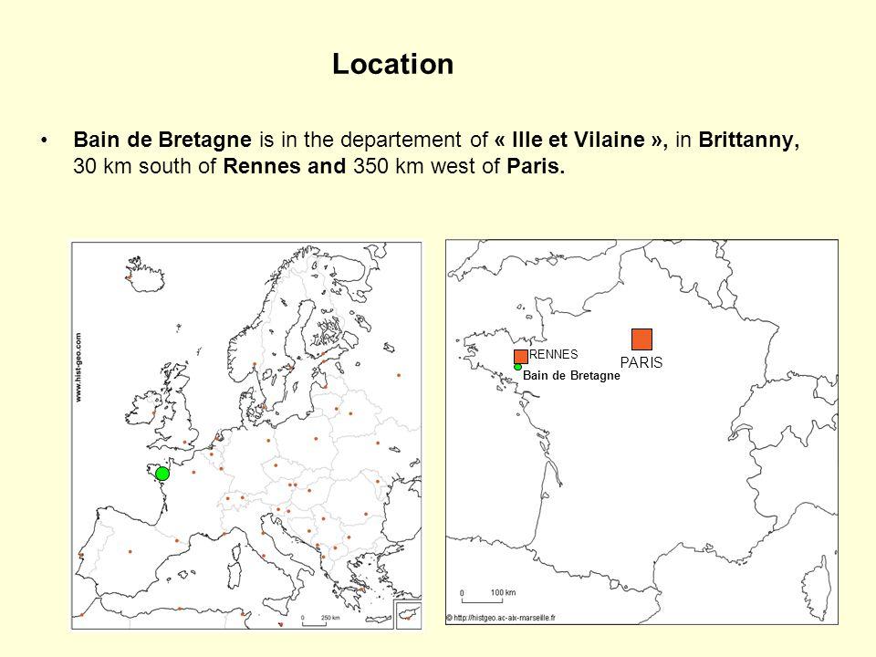 Schooling in Bain de Bretagne Bain de Bretagne has 7500 inhabitants with 2 nursery schools (for pupils aged between 3 and 6), 2 elementary schools (for pupils aged between 6 and 11), 2 comprehensives (for pupils aged between 11 and 15), 1 high school and 1 secondary school for vocational training (for students aged between 15 and 18).