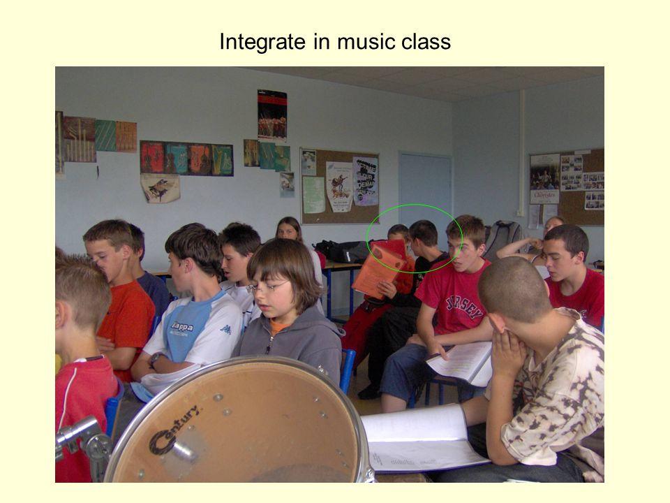 Integrate in music class