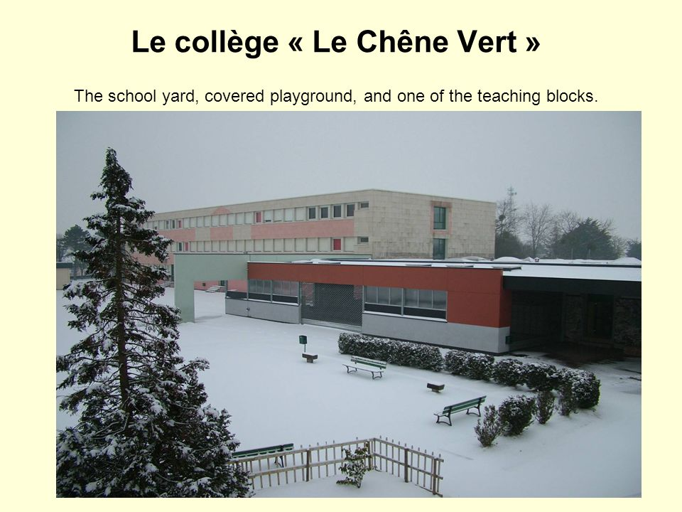 The school yard and the offices