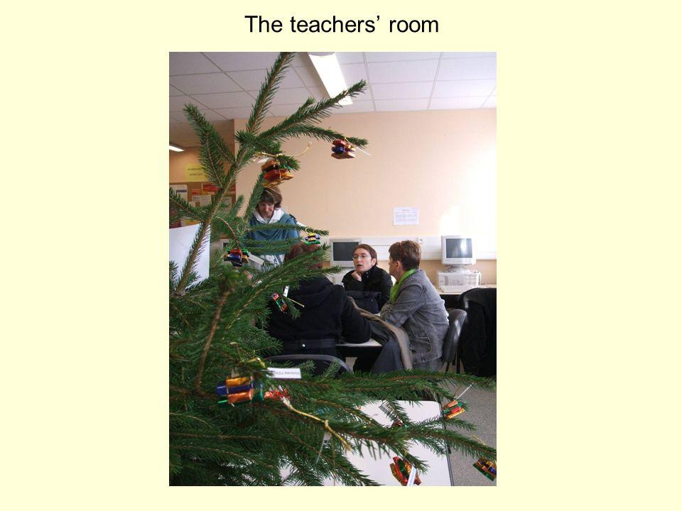 On the ground floor, the U.P.I. classroom