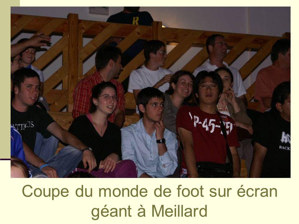 Coupe du monde de foot sur écran géant à Meillard