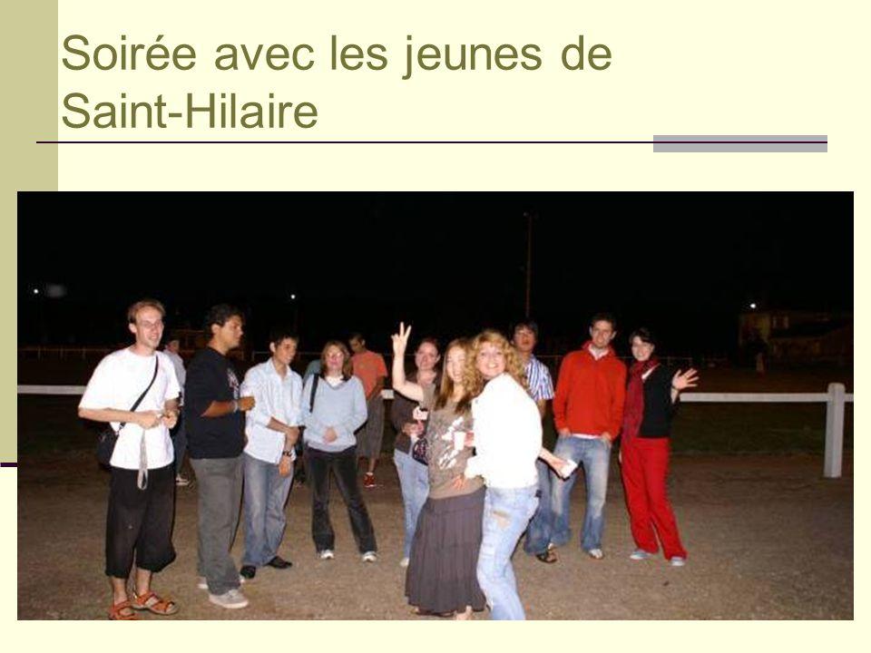 Soirée avec les jeunes de Saint-Hilaire