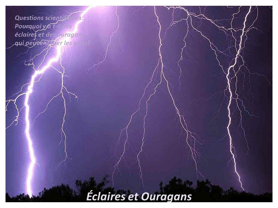 Éclaires et Ouragans Questions scientifiques: Pourquoi y a t-il des éclaires et des ouragans qui peuvent tuer les gens?