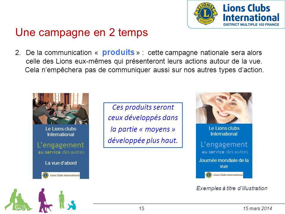 1515 mars 2014 Une campagne en 2 temps 2.De la communication « produits » : cette campagne nationale sera alors celle des Lions eux-mêmes qui présente