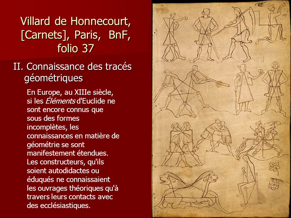 Villard de Honnecourt, [Carnets], Paris, BnF, folio 37 II.