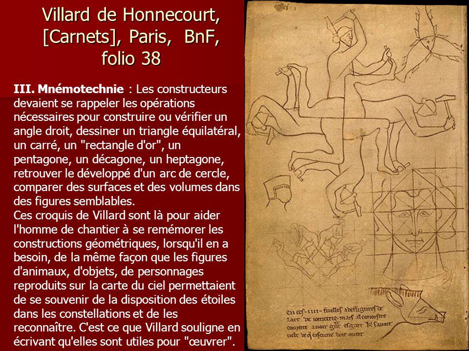 Villard de Honnecourt, [Carnets], Paris, BnF, folio 44 IV. Machines et instruments de levage