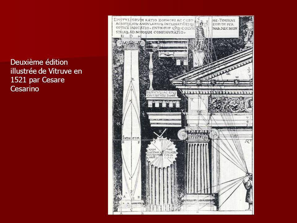 Deuxième édition illustrée de Vitruve en 1521 par Cesare Cesarino