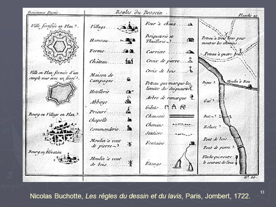 13 Nicolas Buchotte, Les règles du dessin et du lavis, Paris, Jombert, 1722.
