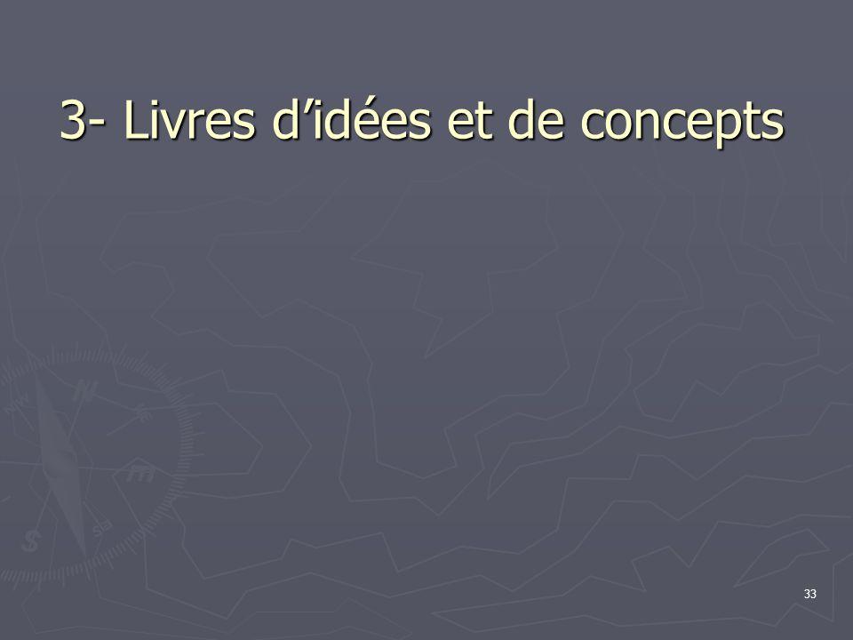 33 3- Livres d'idées et de concepts