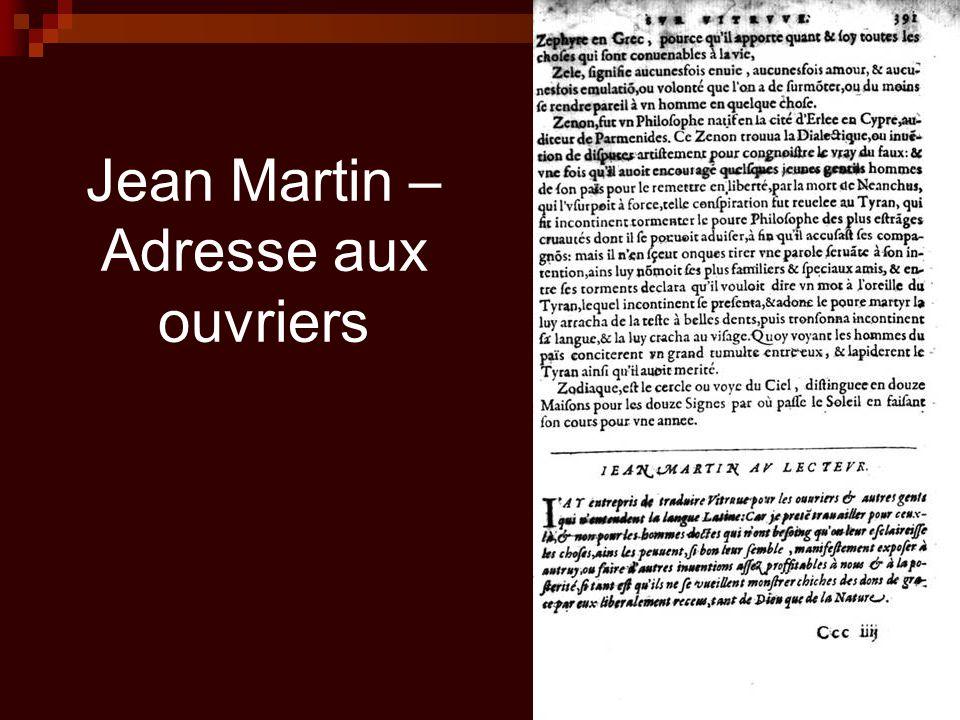 Jean Martin – Adresse aux ouvriers