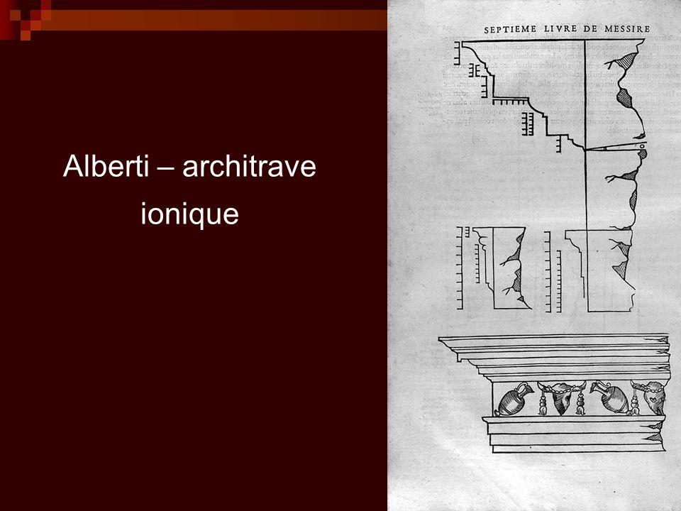 Alberti – architrave ionique