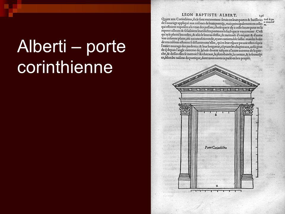 Alberti – porte corinthienne