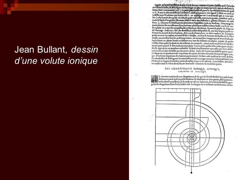 Jean Bullant, dessin d'une volute ionique