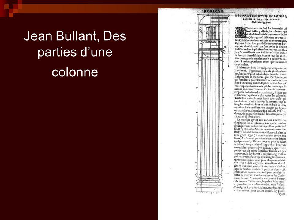 Jean Bullant, Des parties d'une colonne