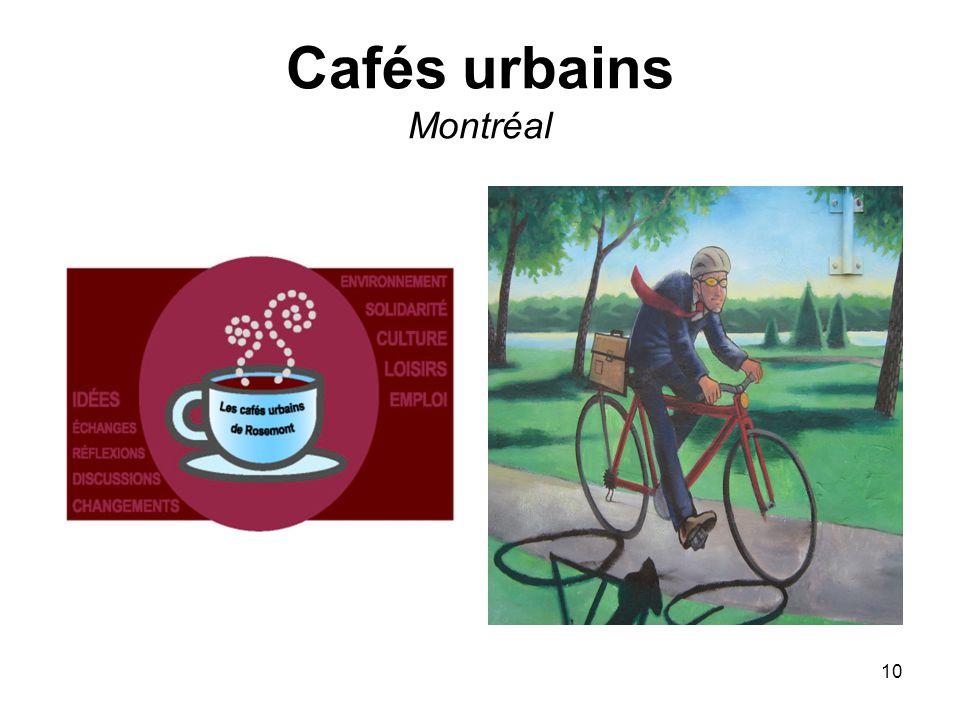 10 Cafés urbains Montréal