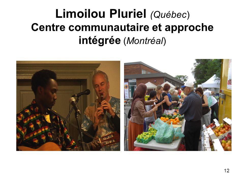 12 Limoilou Pluriel (Québec) Centre communautaire et approche intégrée (Montréal)