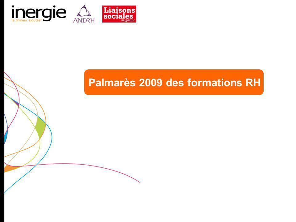 Palmarès 2009 des formations RH