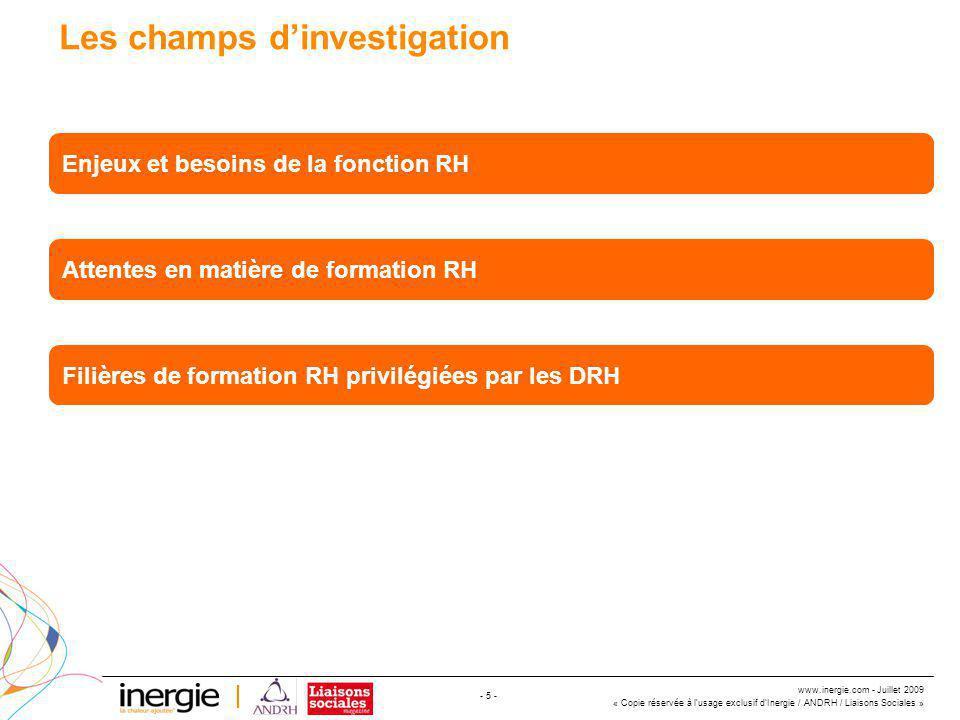 www.inergie.com - Juillet 2009 « Copie réservée à l'usage exclusif d'Inergie / ANDRH / Liaisons Sociales » - 26 - Quelle formation Gestion des RH privilégiez-vous dans cette liste .