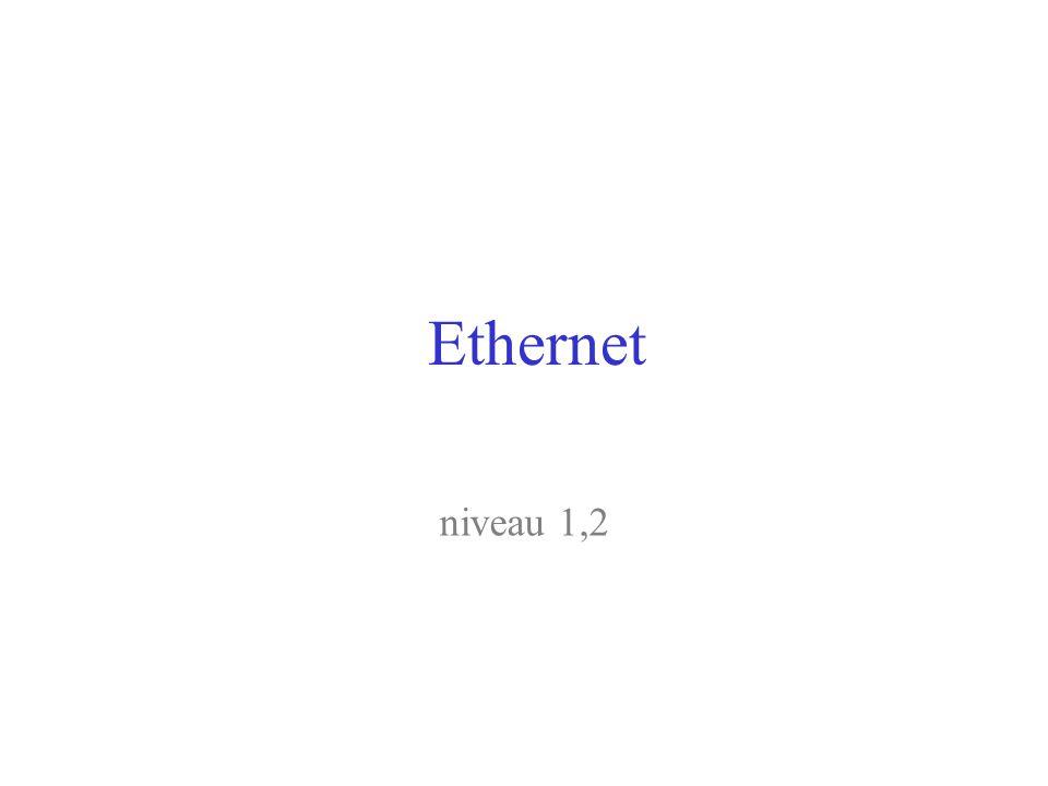 Ethernet niveau 1,2