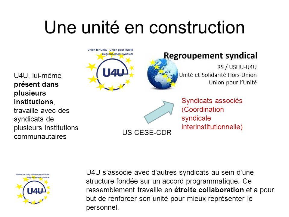 Une unité en construction U4U s'associe avec d'autres syndicats au sein d'une structure fondée sur un accord programmatique.