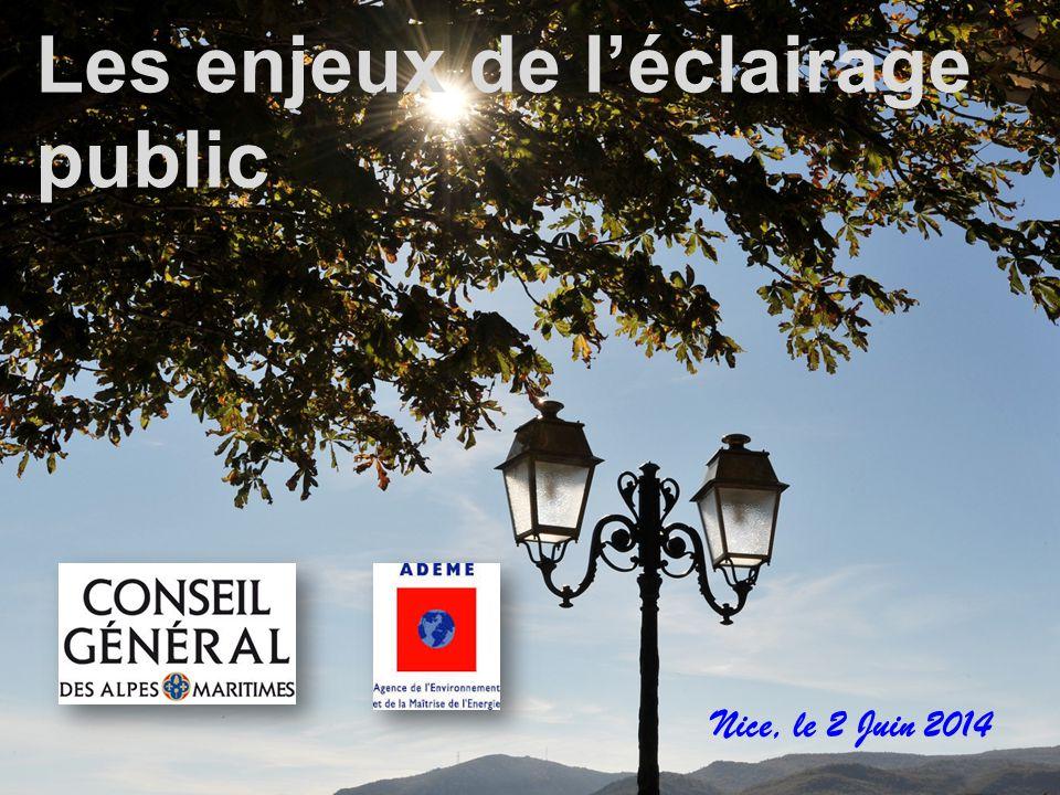 Les enjeux de l'éclairage public Nice, le 2 Juin 2014