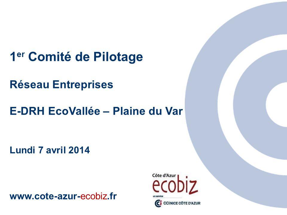 1 er Comité de Pilotage Réseau Entreprises E-DRH EcoVallée – Plaine du Var Lundi 7 avril 2014 www.cote-azur-ecobiz.fr http://www.cote-azur-ecobiz.fr