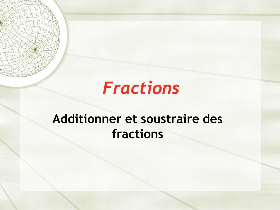  On peut additionner des fractions façilement s'ils ont des un dénominateur commun.