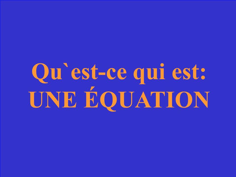 Formule mathématique qui contient le signe = et un des termes est inconnu. 3x2= est une_________