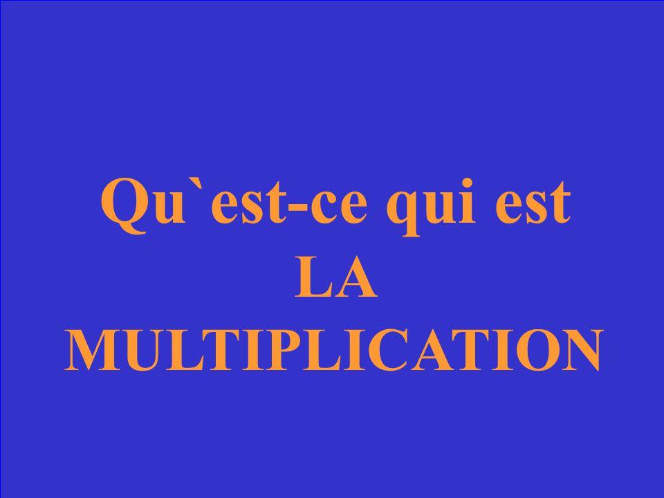 Opération qui permet de remplacer l'addition de plusieurs nombres identiques. On appèle cette opération aussi l'addition répétée