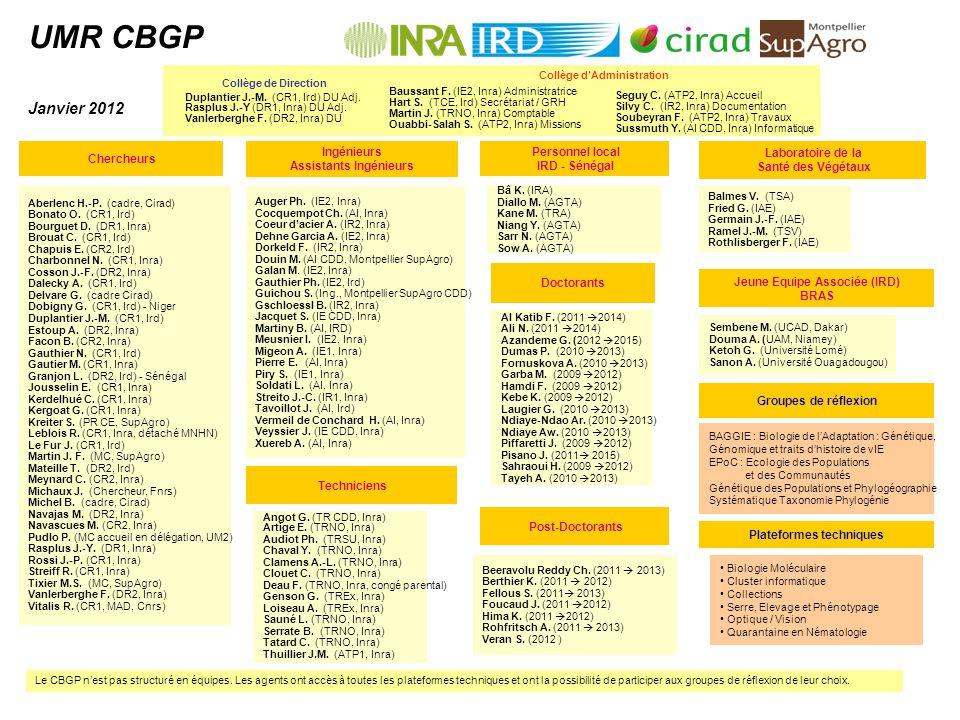 UMR CBGP Janvier 2012 Seguy C. (ATP2, Inra) Accueil Silvy C.