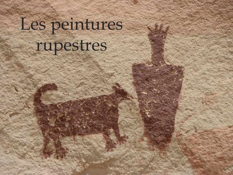 Définitions Peintures rupestres: Il s'agit de peintures peintes sur des parois rocheuses.