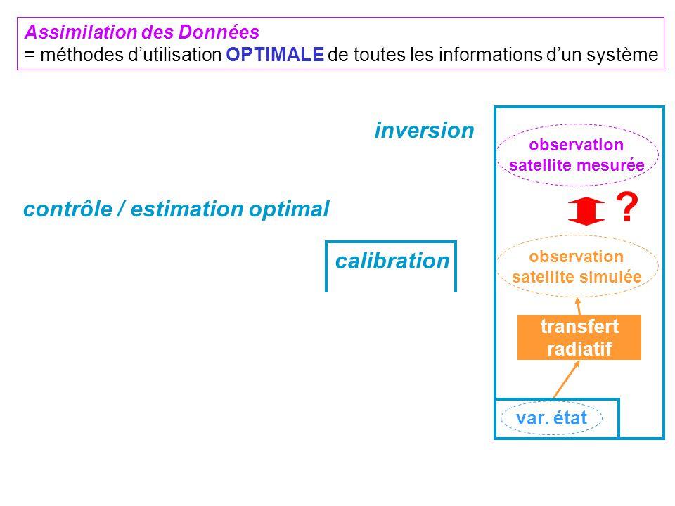 observation satellite simulée transfert radiatif observation satellite mesurée ? forçage climatique paramètre constant conditions initiales couplé mod
