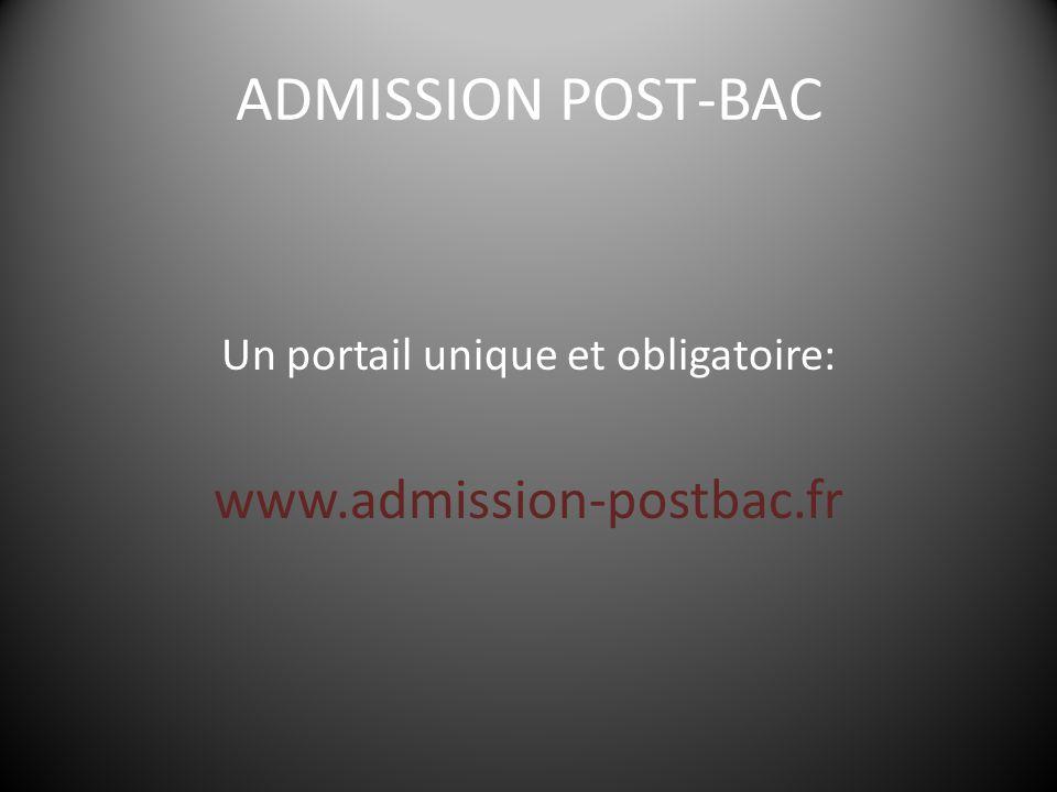 Un portail unique et obligatoire: www.admission-postbac.fr
